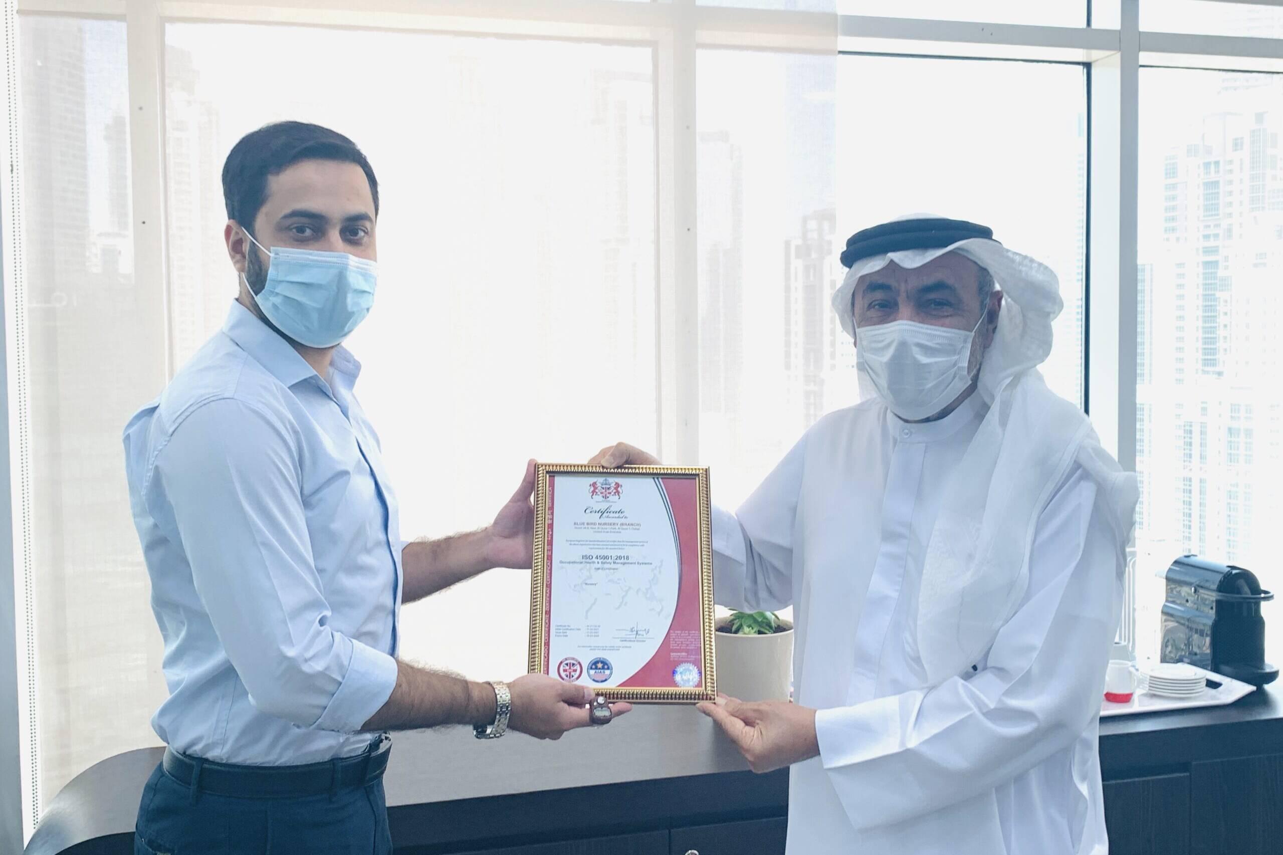 BlueBirdNursery-AlQuoz-ISO-Certification-ISO-45001-2018