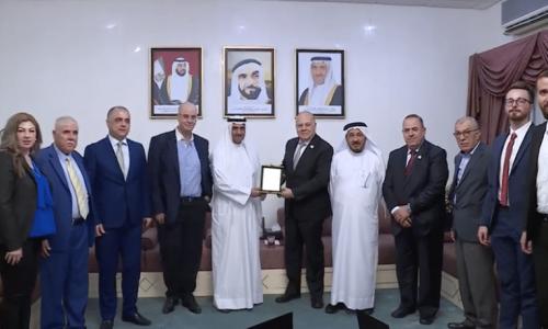 Fujairah ruler host delegation of Association of Arab Universities.